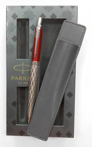 SK 175 Classical Red Набор ручка шариковая Parker Jotter SE London Architecture + чехол